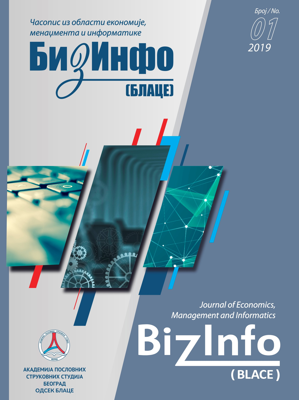 BizInfo (Blace) Journal of Economics, Management and Informatics